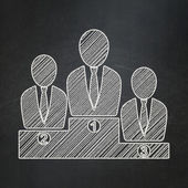 Law concept: Business Team on chalkboard background — Foto Stock
