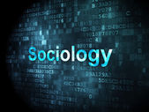 Education concept: Sociology on digital background — Stock Photo