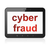 Security concept: Cyber Fraud on tablet pc computer — Foto de Stock