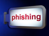 Protection concept: Phishing on billboard background — Stok fotoğraf