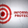 Security concept: target and Information Protection on wall — Stock Photo