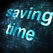 Time concept: Saving Time on digital background — Stock Photo