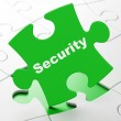 Protection concept: Security on puzzle background — Stock Photo