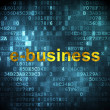 Business concept: E-business on digital background — Stock Photo