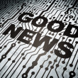 News concept: circuit board with Good News — Zdjęcie stockowe
