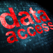 Data concept: Data Access on digital background — Stock Photo