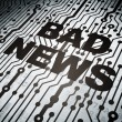 News concept: circuit board with Bad News — Stock Photo