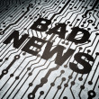 News concept: circuit board with Bad News — Foto Stock