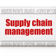 Marketing concept: newspaper headline Supply Chain Management — Stock Photo #36244025
