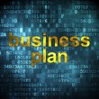 Finance concept: Business Plan on digital background — Stock Photo