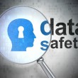 Information concept: Head With Keyhole and Data Safety with optical glass — Stock Photo