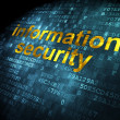 Safety concept: Information Security on digital background — Stock Photo