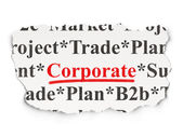 Finance concept: Corporate on Paper background — Stockfoto