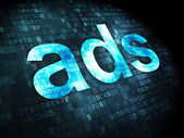 Advertising concept: Ads on digital background — Stock Photo