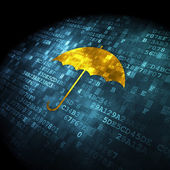Security concept: Umbrella on digital background — Stockfoto