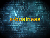 Business concept: E-business on digital background — ストック写真