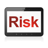Business concept: Risk on tablet pc computer — Stock fotografie