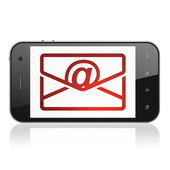 Finance concept: Email on smartphone — Foto Stock