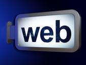 Web design concept: Web on billboard background — Stock Photo