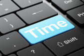 Time concept: Time on computer keyboard background — Stock Photo
