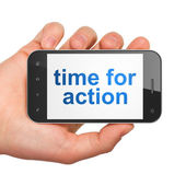 Timeline concept: Time for Action on smartphone — Stock Photo