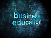 Education concept: Business Education on digital background — Stock Photo