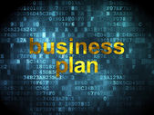 Finance concept: Business Plan on digital background — ストック写真