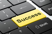 Business concept: Success on computer keyboard background — Stock Photo