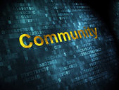 Social network concept: Community on digital background — Stock Photo