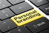 Advertising concept: Personal Branding on computer keyboard background — Foto Stock