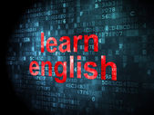 Education concept: Learn English on digital background — 图库照片