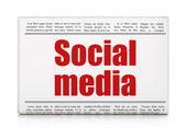 Concetto di media sociali: giornale titolo sociale dei media — Foto Stock