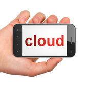 Cloud computing concept: Cloud on smartphone — Stock Photo