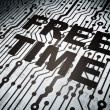 Timeline concept: circuit board with Free Time — Stock Photo