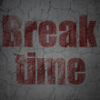 Timeline concept: Break Time on grunge wall background — Stock Photo
