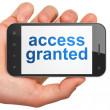 Privacy concept: Access Granted on smartphone — Stock Photo