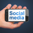 Social network concept: Social Media on smartphone — Stock Photo