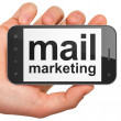 Advertising concept: Mail Marketing on smartphone — Stock Photo