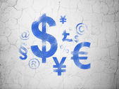 News concept: Finance Symbol on wall background — Stock Photo