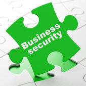 Privacy concept: Business Security on puzzle background — Photo