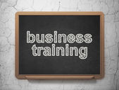 Education concept: Business Training on chalkboard background — Stock Photo