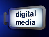 Marketing concept: Digital Media on billboard background — Stock Photo