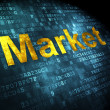 Stock Photo: Finance concept: Market on digital background