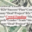 Finance concept: Crowd Funding on Money background — Stock Photo