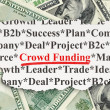 Finance concept: Crowd Funding on Money background — Stock Photo #36648519