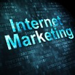 Stock Photo: Marketing concept: Internet Marketing on digital background