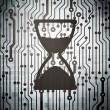 Time concept: circuit board with Hourglass — Stock Photo