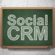 Finance concept: Social CRM on chalkboard background — Stock Photo