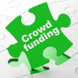 Business concept: Crowd Funding on puzzle background — Stock Photo #36648973