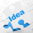 Stock Photo: Advertising concept: Ideon puzzle background